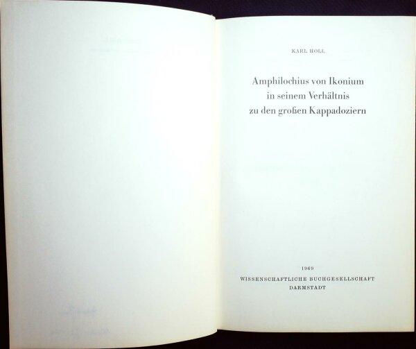 Amphilochius von Ikonium in seinem Verhältnis zu den großen Kappadoziern