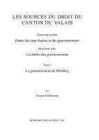 Sammlung Schweizerischer Rechtsquellen / Le gouvernement...