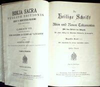 Biblia Sacra vulgatae editionis/ Die heilige Schrift des...