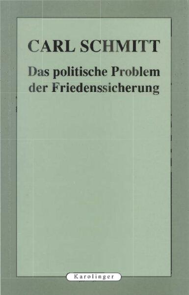 Das politische Probleme der Friedenssicherung
