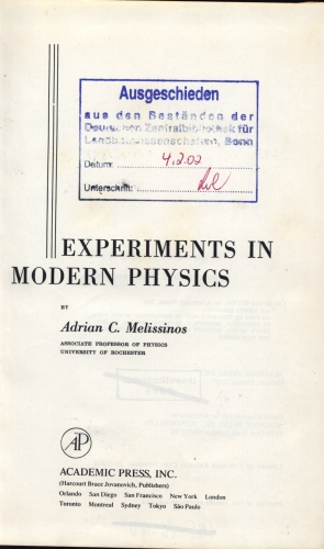 Experiments in modern physics.